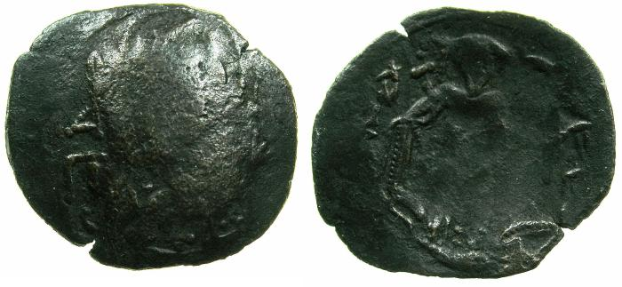 Ancient Coins - BYZANTINE EMPIRE.Michael VIII alone AD 1261-1272.AE.Trachy.Class XXVII.Mint of CONSTANTINOPLE.