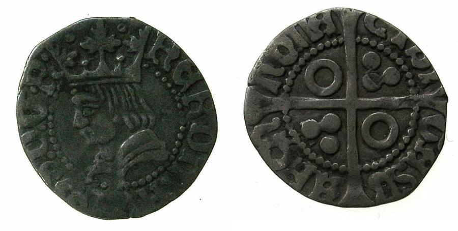 World Coins - SPAIN.BARCELONA.Ferdinand II ' El Catolico ' AD 1479-1516.AR. Half Groat ( Medio Groat ).