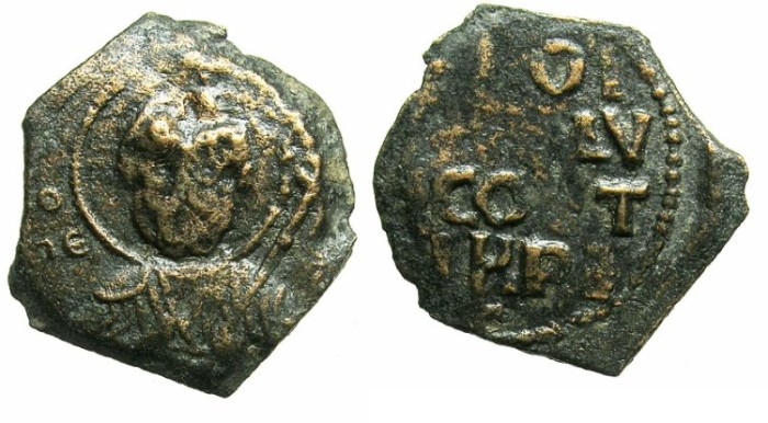 Ancient Coins - CRUSADER.f ANTIOCH.Tancred AD 1104-1112.AE.Follis. Facing bust of Saint Peter.