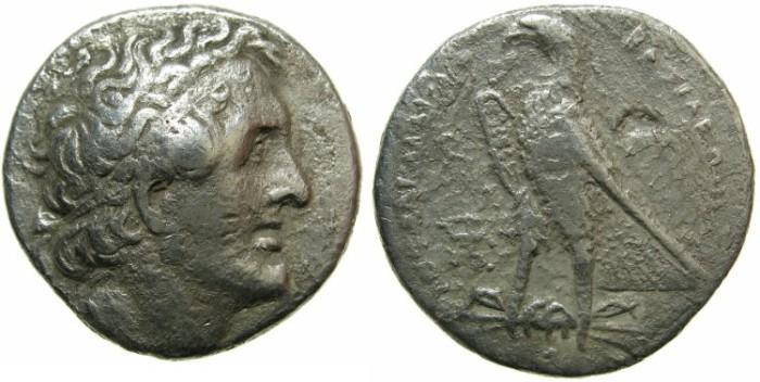 Ancient Coins - EGYPT.Ptolemy II Philadelphus 285-246 BC.AR.Tetradrachm.Mint of ALEXANDRIA?
