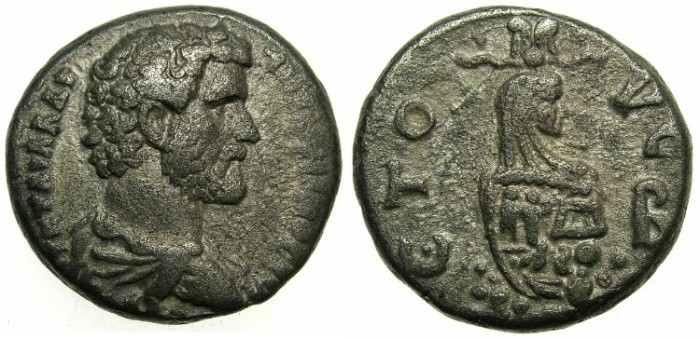 Ancient Coins - EGYPT.ALEXANDRIA.Antoninus Pius AD 138-161.Billon Tetradrachm.Struck AD 138/39.~#~Canopus of Osirus.
