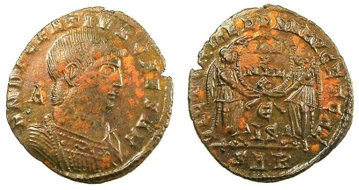 Ancient Coins - ROMAN.Decentius Caesar AD 351-353.AE.Centenionalis.Mint of Arles.Two Victories