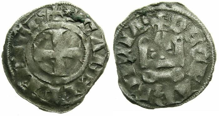 Ancient Coins - CRUSADER.ACHAIA.Isabella of Villehardouin AD 1289-1297.Bi.Denier.Type Y4.