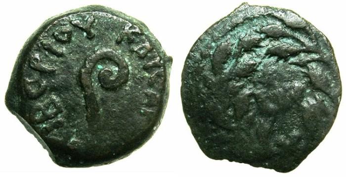 Ancient Coins - JUDAEA.ROMAN PROCURATORS.Pontius Pilate AD 26-36.AE.Prutah.Struck AD 31.