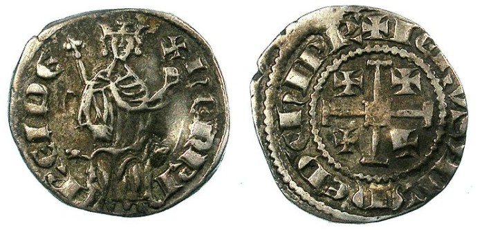Ancient Coins - CRUSADER.CYPRUS.Henry II AD 1283-1324.AR.Gros petit.