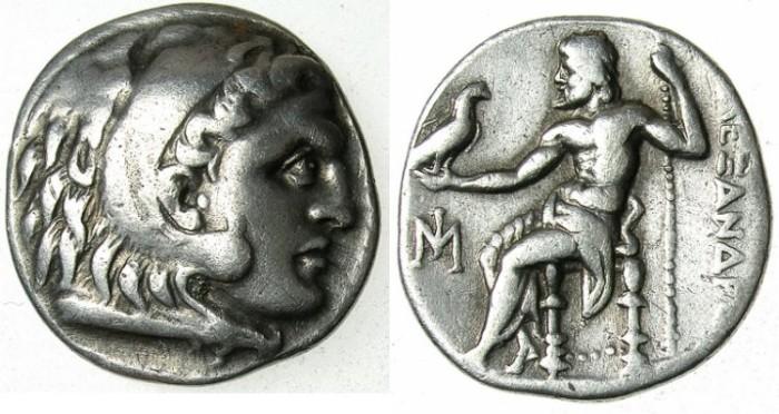Ancient Coins - MACEDON.Alexander III The Great 336-323 BC.AR.Drachma.Mint of Miletus.