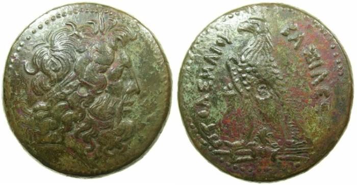 Ancient Coins - PTOLEMAIC EMPIRE.EGYPT.Ptolemy III Euergetes I 246-221BC.AE.Hemi drachma.Mint of ALEXANDRIA.