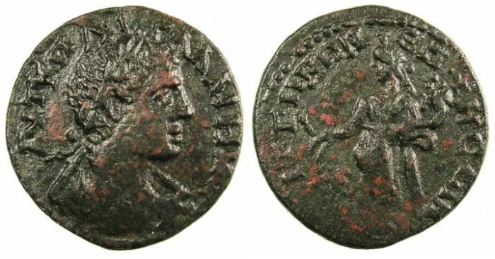 Ancient Coins - LYDIA.SAITTA.Gallienus AD 253-268.AE.22.Rev.Tyche.
