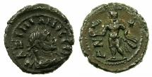 Ancient Coins - EGYPT.ALEXANDRIA. Maximianus Heraclius AD 286-305.Billon tetradrachm, struck AD 291/92. ~#~. Heraclius standing holding Nike
