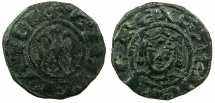 World Coins - ITALY.SICILY.Henry VI AD 1194-1197.Denaro joint issue with Frederick AD 1196-1197.Mint of Messina or Palermo.