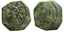 World Coins - ITALY.SICILY.Roger II as King AD 1130-1154.AE.Follaro, struck c.1130-1138.Mint of MESSINA.