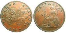 World Coins - GREECE.IONION ISLANDS under Bristish Rule.AE.1 Obol 1819.