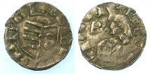 World Coins - ROMANIA.VOIVODES OF WALLACHIA.Dan I 1383-1386.Bi.Denier.IW above shield.~~~Rare.
