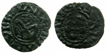 "World Coins - CRUSADER.""ERAT HAEC NOSTRA moneta"" preferred coinage.Bishops of Valence.Billon Denier."