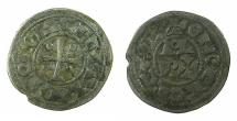 World Coins - FRANCE.BEARN.circa 12th -13th cent AD. AR.Obol, immobolized type in the name of Cantullo III ( AD 1012-1058 ).