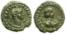 Ancient Coins - EGYPT.ALEXANDRIA.Aurelian AD 270-275 and Vabalathus .Bi.Tetradrachm.AD 270/271.