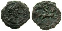 Ancient Coins - EGYPT.ALEXANDRIA.Marcus Aurelius AD 161-180.AE.Diobol, struck AD 171/72?.~#~.Serpent Agathodaemon riding horse.