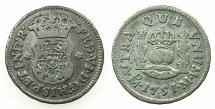 World Coins - MEXICO under SPAIN.Ferdinand VI 1746- 1759.AR.1/2 Real 1751.Mexico city mint.