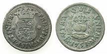 World Coins - MEXICO under SPAIN.Ferdinand VI 1746- 1759.AR.1/2 Real 1751.Mexico city mint.