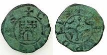 World Coins - CRUSADER STATES.County of Tripoli.attributed to Bohemond IV 1187-1230.AE.Castle type.4.