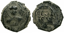 World Coins - CRUSATER STATES.ANTIOCH.Tancred AD 1104-1112.AE.Follis.1st type.~~~ Facing bust of Saint Peter.