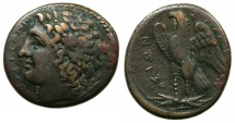 Ancient Coins - SICILY.SYRACUSE.Hiketas II 287-278 BC.AE.23.1mm