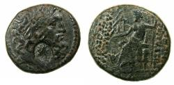 Ancient Coins - SYRIA.ANTIOCH.Caesarian era coinage.AE.24mm. struck 46/45 BC. ***Countermarked with bust of Cleopatra VII , Queen of Egypt.***