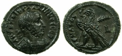 Ancient Coins - EGYPT.ALEXANDRIA.Gallienus Sole reign AD 261-268.Billon Tetradrachm, struck AD 261/62.~#~.Eagle on thunderbolt.