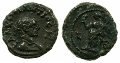 Ancient Coins - EGYPT.ALEXANDRIA.Constantius Chlorus Caesar AD 293-305.Billon Tetradrachm, struck AD 293/94.~#~.Eirene