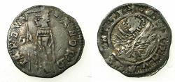 World Coins - VENICE.Andrea Contarini AD 1368-1382.AR.Soldino.2nd Type.1st.issue.issued by Edit dated 19th December 1369.Sigla D over C
