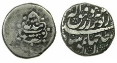 World Coins - AFGHANISTAN.DURRANI.Taimur Shah as Sultan 1186-1207H( AD 1772-1793).AR.Rupee, posthumus issue dated (12)11H.Mint of MESHHED.