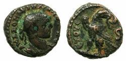 Ancient Coins - EGYPT.ALEXANDRIA.Aurelian AD 270-275.Billon Tetradrachm, struck AD 274/275.~#~.Eagle on thunderbolt.