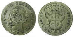 World Coins - ITALY.SARDINIA.Carlo Emanuelle III 1730-1773.AE.Billon.Reale Sardo 1768.Mint of TURIN.