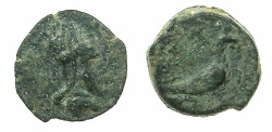 Ancient Coins - Artaxiads of ARMENIA.Tigranes IV 8-5 BC.AE.12.8mm.~#~.Rare type , Eagle standing right.
