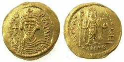 Ancient Coins - BYZANTINE EMPIRE.Phocas AD 602-610.AV.Solidus. Mint of CONSTANTINOPLE.8th officina.
