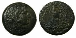 Ancient Coins - PTOLEMAIC EMPIRE.EGYPT.ALEXANDRIA. Ptolemy IV 221-205 BC AE.23.9. ( Obol ?).