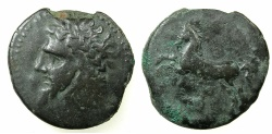 Ancient Coins - NUMIDIA.Massinissa or Micipsa circa 203-148-118 BC.AE.27mm.