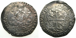 World Coins - CRUSADER STATES.GREECE.Island of CHIOS, under GENOA.The Mahona 1347 and later.AR.Gigliato.