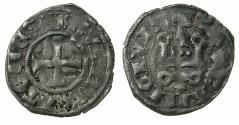 World Coins - CRUSADER STATES.GREECE.Dukedom of ATHENS.Guy II AD 1287-1308.Billon Denier. Star below Chatel.