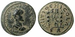 Ancient Coins - PISIDIA.ANTIOCH.Volusian AD 251-253.AE.26mm.  Varient without eagle above Vexillium
