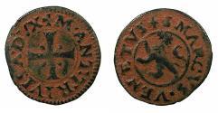 World Coins - CYPRUS, under VENICE.Marco Antonio Trevisan AD 1553-1554.AE.Carzia per Cipro.