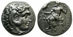 Ancient Coins - MACEDONIAN EMPIRE.CYPRUS.Alexander III 336-323 BC.AR.Drachma, struck circa 323-280 BC.Mint of Paphos.