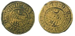World Coins - CAPPADOCIA.KELVERI.St.Gregory Theologus church.AE.10 Para ''Bracteate''Token 1888 overstrike on 1884