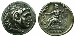 Ancient Coins - THRACE.Lysimachus AD 305-281.'Electroype'Tetradrachm,Mint of Magnesia ad Maeandrum.British Museum electrotype by Robert Ready.