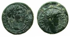 Ancient Coins - LYDIA.GERME.Titus with Domitian Caesar AD 79-81.AE.18mm.