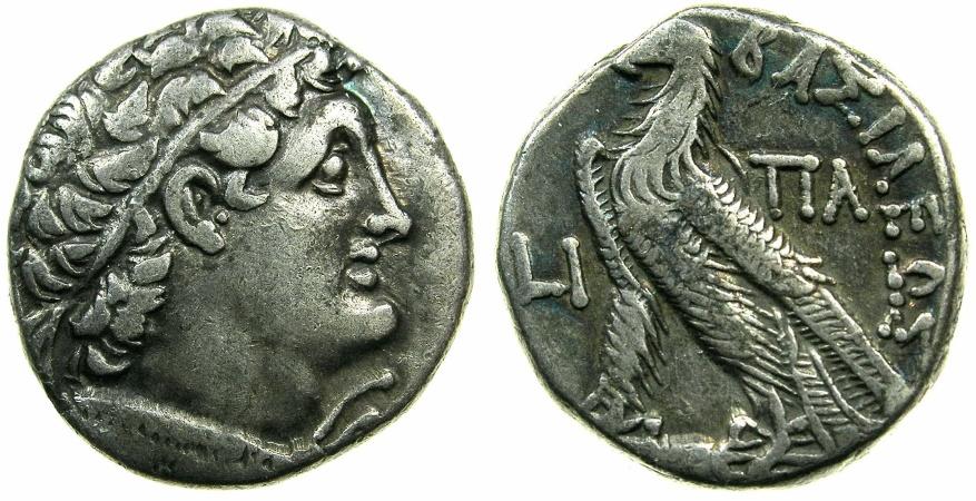 Ancient Coins - PTOLEMAIC EMPIRE.EGYPT.ALEXANDRIA.Cleopatra III and Ptolemy IX Soter II 116-107 BC.AR.Tetradrachm.struck 108/7 BC