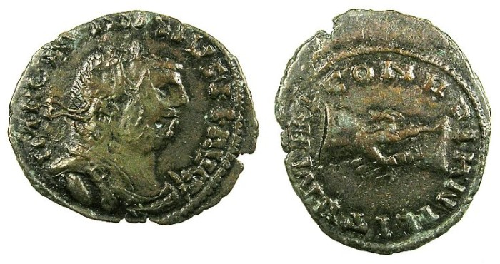 "Ancient Coins - ROME.Carausius, usurper.AD 287-293.AE.Antoninianus ""Barbarous issue"".London mint"