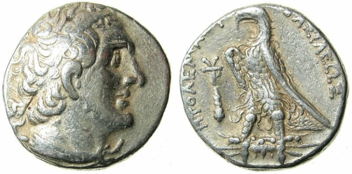 Ancient Coins - Ptolemaic Empire.Phoenicia.Ptolemy II Philadelphus  285-246 BC.AR.Tetradrachm.Phoenician mint of TYRE.