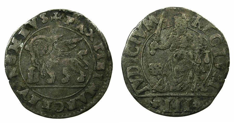World Coins - ITALY.VENICE.Pietro Loredan AD 1567-1570.AR.Anonymous 3 gazzetta.issued by decree 10th April 1570