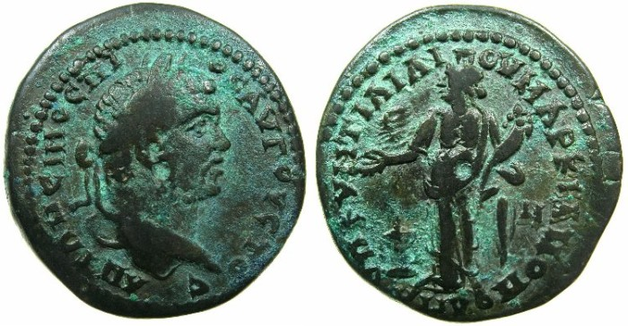 Ancient Coins - MOESIA INFERIOR.MARCIANOPOLIS.Caracalla Augustus AD 198-217.AE 27mm.~#~. Homonia standing.